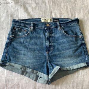 High Rise Jean Shorts (Garage)